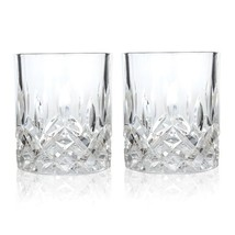 Insulated Tumbler, Admiral Prismatic Rays Crystal Glass Tumbler, Set Of 2 - $24.22