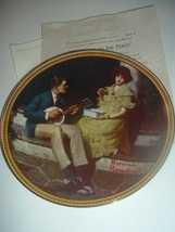 Norman Rockwell Pondering on the Porch Plate 1981 Vintage - $12.99