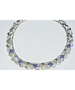 "Tiffany & Co Lapis Lazuli Rare Vintage Necklace Gold Sterling Silver 18""... - $5,815.14"