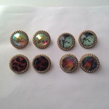 Vintage, Rare 1950s, Gold Tone, 4 Pairs Star Clip Earrings - $23.70