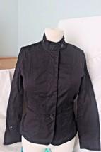 Talbots Black Jacket Petite Size 4 Cotton 2% Spandex Button Up  - $22.86