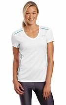 Asics Fujitrail Größe Größe M Damen Kurzärmlig Sportshirt Top Weiß Wr1660