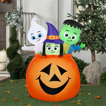 Airblown Inflatable Scary Pumpkin Tall Giant Halloween Outdoor Yard Deco... - $81.78