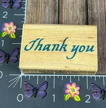 Comotion Thank You Rubber Stamp 1987 #198 #J92 - $2.23