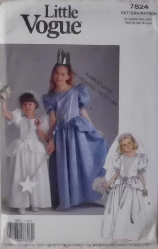 Little Vogue 7824 Pattern Princess Costume Formal Dress Flower Girl Dress