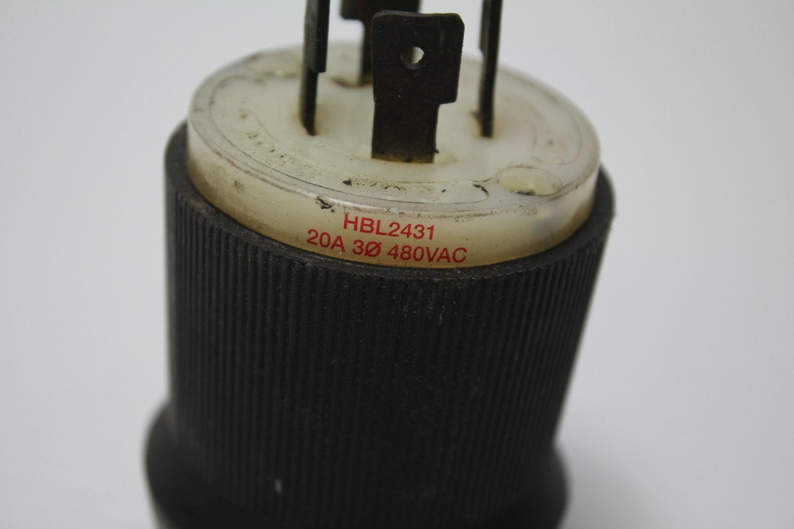 Hubbel HBL2431 Twist Lock Plug New In Box Lot of 2