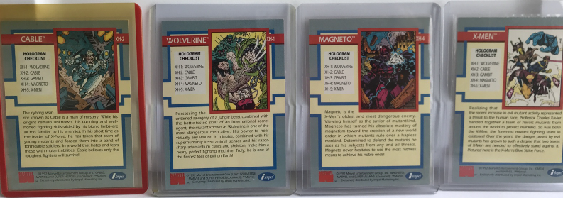 1992 X-Men  Hologram Trading card  Magneto, Cable, Wolverine and X-men