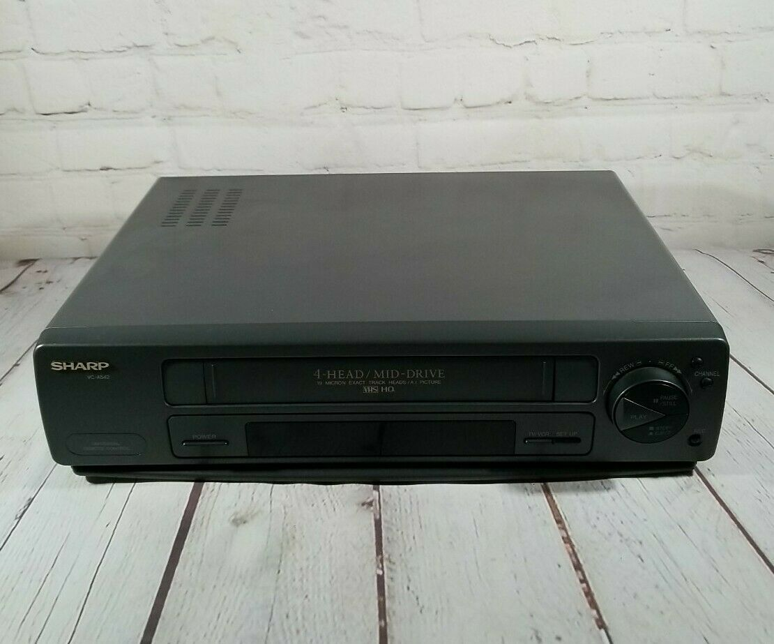 Sharp VCR 4 Head VC-A542U No Remote Tested & Working - HQ 19 Micron Exact Heads - $35.38