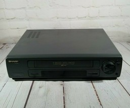 Sharp VCR 4 Head VC-A542U No Remote Tested & Working - HQ 19 Micron Exact Heads - $30.13