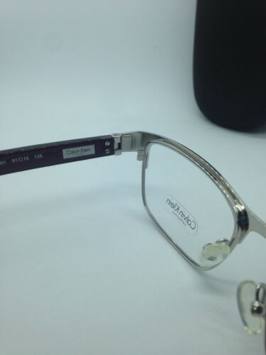 NEW AUTHENTIC CALVIN KLEIN CK7392 501 PURPLE EYEGLASSES FRAME RX 51-15 W/CASE