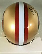NICK BOSA / SAN FRANCISCO 49ERS / AUTOGRAPHED 49ERS LOGO MINI HELMET / COA image 5