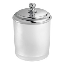 InterDesign York Bathroom Vanity Canister Jar for Cotton Balls, Swabs, Cosmetic  - $20.72