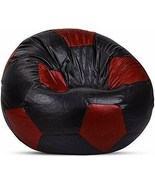 Bean Bags XXXL Bean Bag Without Fillers Cover (Black and Maroon) Free Sh... - $58.49