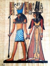Egyptian Art Papyrus Paper Royal Tombs Temples Pharaohs Made in Egypt EA33  - $14.84