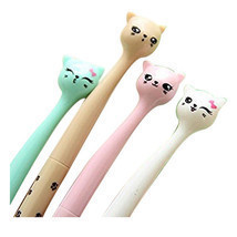 10x Creative stationery Roller Ball Pen, tip pens (Cartoon Cats) O6S1 - £7.42 GBP