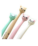 10x Creative stationery Roller Ball Pen, tip pens (Cartoon Cats) O6S1 - $190,56 MXN