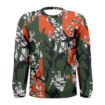 Green Orange Camo MIlitary Style Camo Men's Long Sleeve Tee - $25.99+