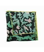 Jane Carr Uomini The Camouflage Pocket Square Fazzoletto Da Taschino Grass - $51.17