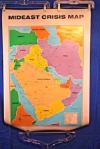 "1990 ""MIDEAST CRISIS MAP"" 18"" x 12"" nice size to mat and frame - $17.82"