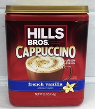 Hills Bros French Vanilla Cappuccino Cafe Style Drink Mix 16 oz Hills Br... - $6.05