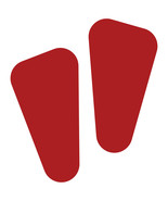 LiteMark Red Removable Robot Footprint Decal Stickers - Pack of 12 - $19.95