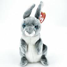 2000 Ty Beanie Baby Hopper the Bunny Rabbit Retired Beanbag Plush Doll Toy