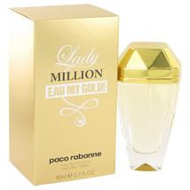 Lady Million Eau My Gold by Paco Rabanne Eau De Toilette Spray 2.7 oz fo... - $64.84