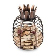 Cork Wine Holder, Juicy Pineapple Tabletop Decorative Metal Rustic Cork ... - $30.79