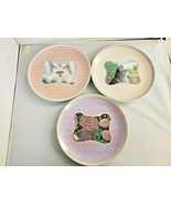 Lynn Hollyn's Town and Country Collection 3 Cat Dessert Plates Toscany J... - $23.38