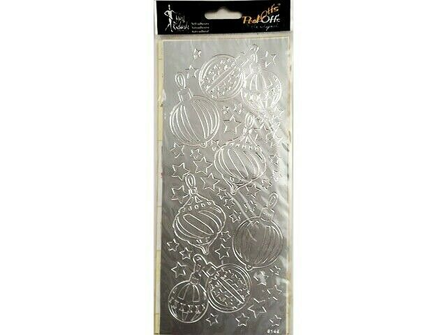 Mark Richards Peel-Offs Stickers, Silver Ornaments and Stars #3652S