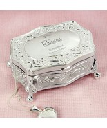 Personalised Swirls & Hearts Small Antique Trinket Box | Cellini Gifts #1 - $35.28