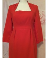 KATE SPADE BRIGHT RED DRESS SWEETHEART NECK SIZE 6 HOLIDAY PARTY ALL OCC... - $45.00