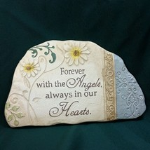 Ganz Forever with the Angels Pet Memorial Bereavement Sympathy Plaque Sign New - $33.38