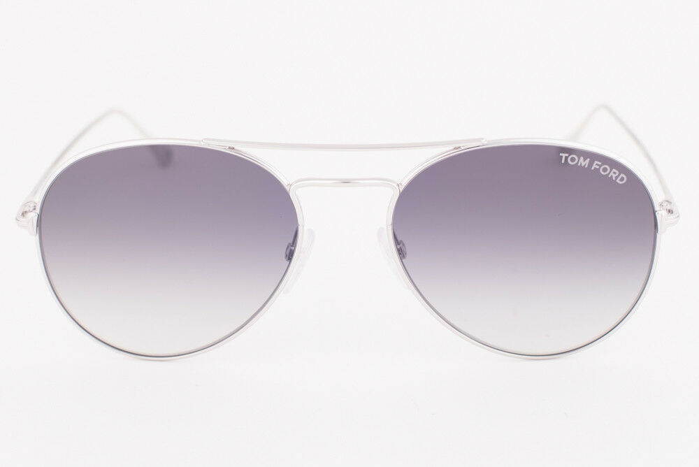 Tom Ford Ace 02 Shiny Silver / Gray Gradient Sunglasses TF551 18B