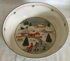 SANGO CHRISTMAS SILENT NIGHT Large Round Serving Bowl Vegetable Dish Unu... - $29.69