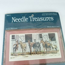 Needle Treasures Little Partners Counted Cross Stitch Kit Horses Stable ... - $39.59