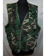 Game Winner Vtg Camo Camouflage Hunting Fishing Vest XL XXL Green Photog... - $18.53