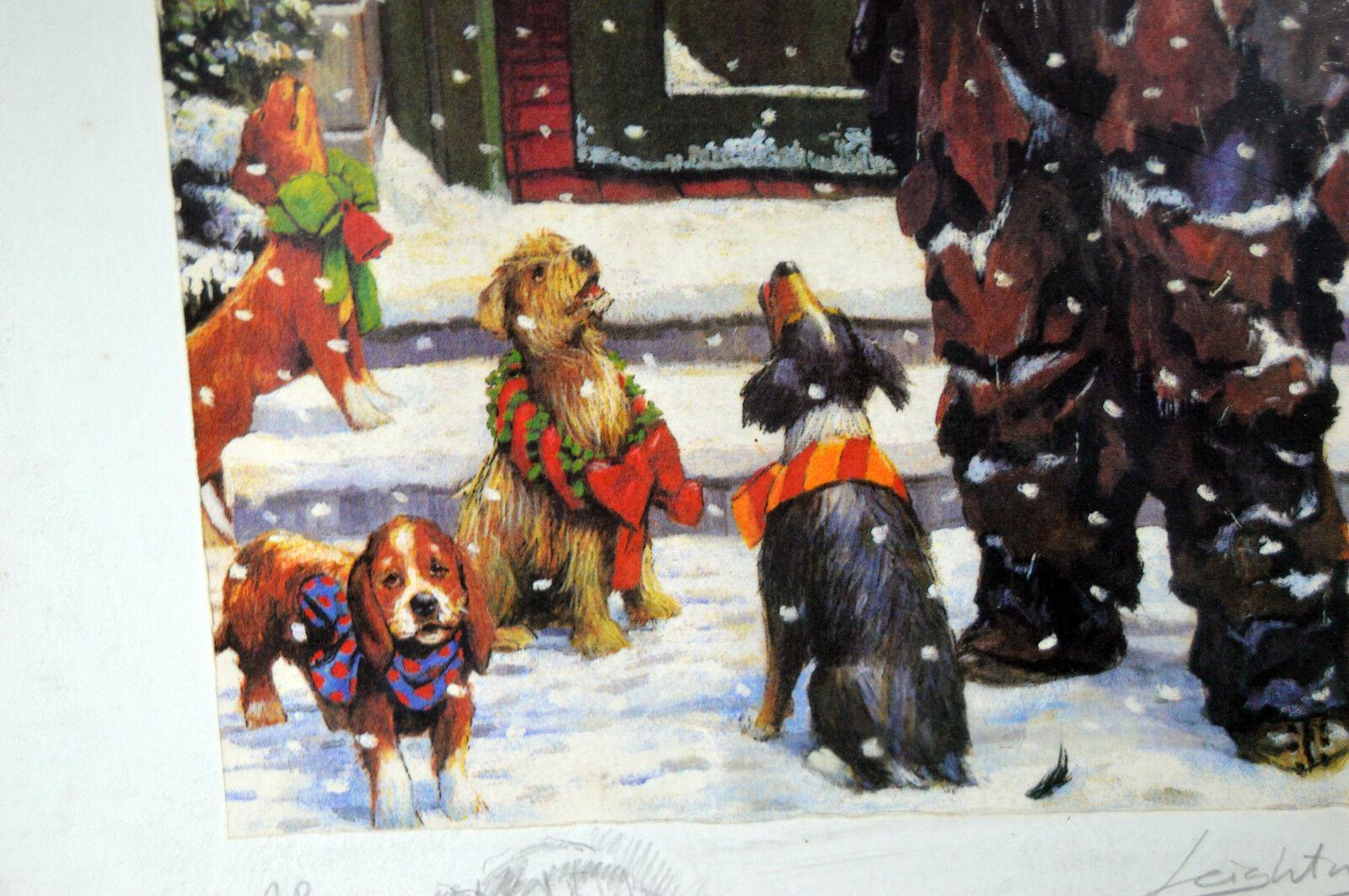 Unique Signed Artist Proof Leighton Jones Emmett Kelly Christmas Carol Scrooge image 4