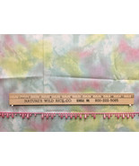 """Tie Dye Fabric w/ Pink Beaded Trim Craft Lot Projects 38"""" Long Moda Marble Mate - $28.70"""