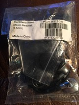 New Blackberry Wired Stereo Headset / Earbuds 3.5mm HDW-14322-003 - $5.89