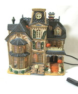 Lemax Spooky Town Greaves Manor Lighted Ghost House 05473 Retired Hallow... - $59.39