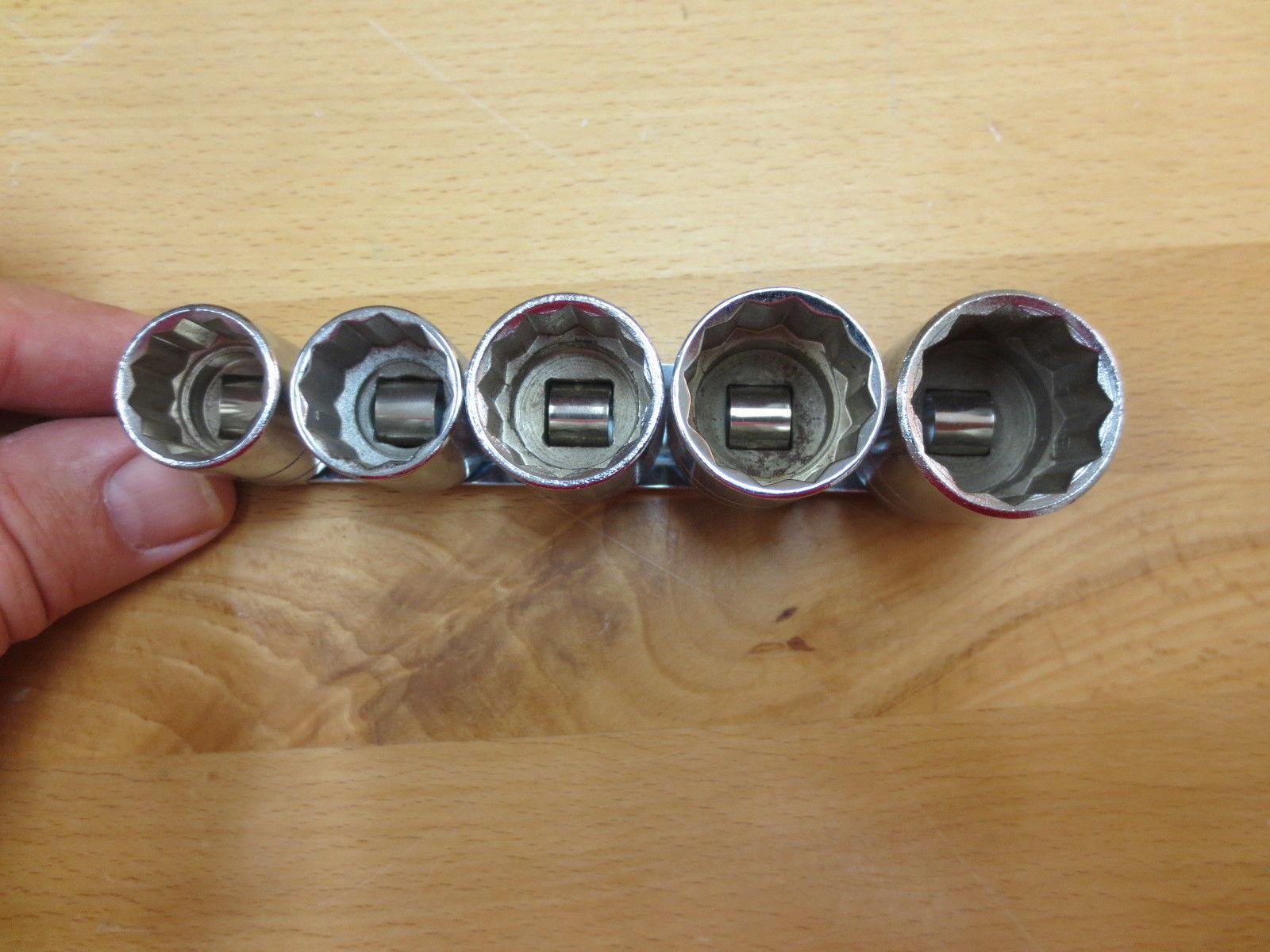 "SK 3885 5 Pc., 3/8"" Drive, SAE Socket Set, Standard Depth, 5/8-7/8, USA!"