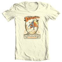 Superman T-shirt vintage golden age DC comic superhero graphic cotton tee DCO168 image 2