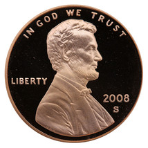 2008-S Lincoln Memorial Cent Penny Gem Proof US Mint Coin Uncirculated UNC - $7.99