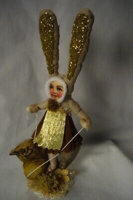 Vintage Inspired Spun Cotton, Chick Rider Bunny Girl