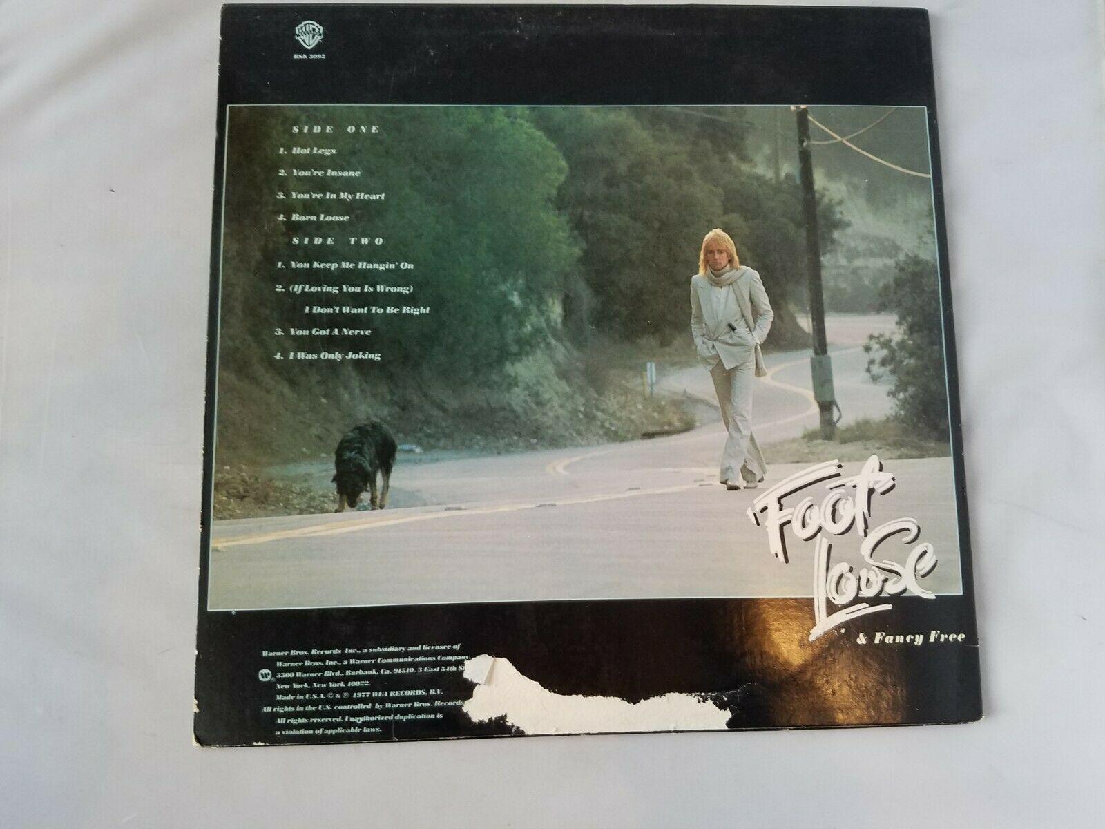 Rod Stewart Foot Loose & Fancy Free Vinyl Record Vintage 1977 WEA Warner Bros