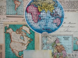 1/2 yard Map of the World maps cotton quilt fabric -free shipping image 5