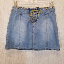LIMITED TOO Junior Girls Stretch Jean Skirt Size 14 Blue Stonewashed Denim - $22.10