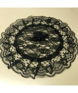 Chapel Prayer Usher Black Lace Crown Church Cap with Comb New One Size - $15.49