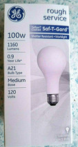 1 Ge Teflon Coated Rough Service 100 Watts A21 Incandescent Bulb 1160 Lumens - $3.55